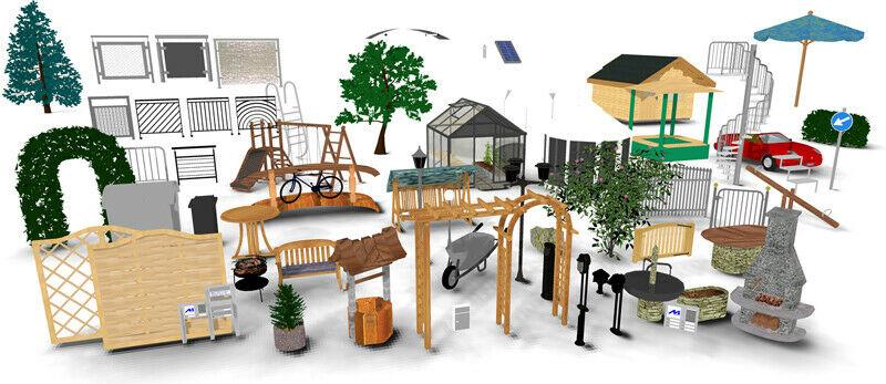 3D Objekt GALA PLUS Komplett Paket | Zubehör ArCon - Gestaltung Garten & Landschaft