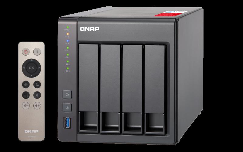 Datensicherungssystem | QNAP TS-451+-8G NAS System 4-Bay, 4TB inkl. 4x 1TB Seagate ST1000VN002