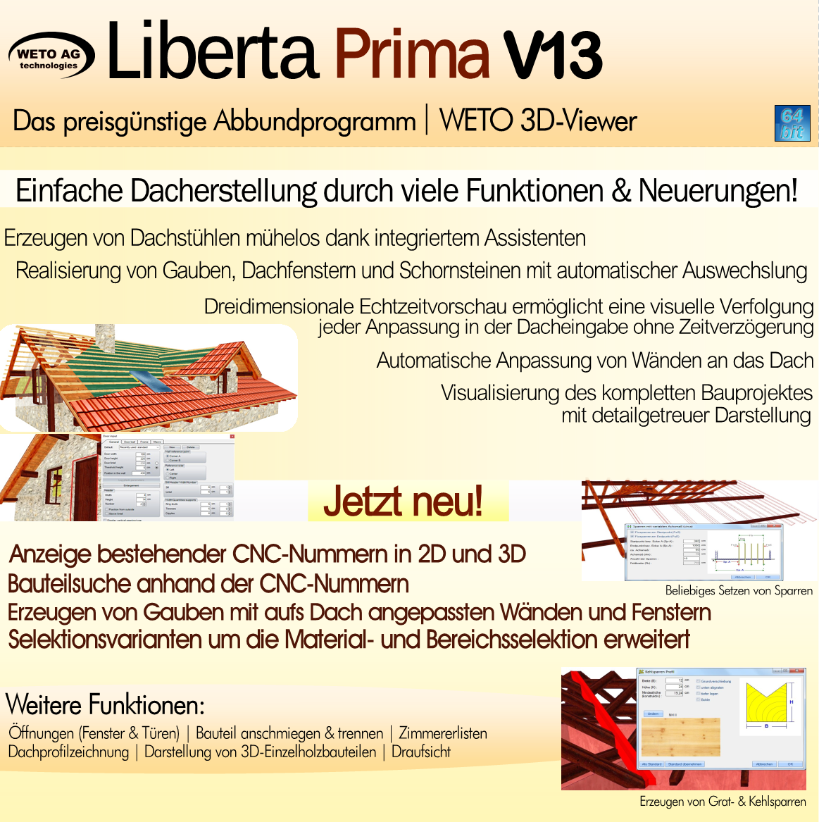 LIBERTA Prima V13   Dach- & Holzbausoftware