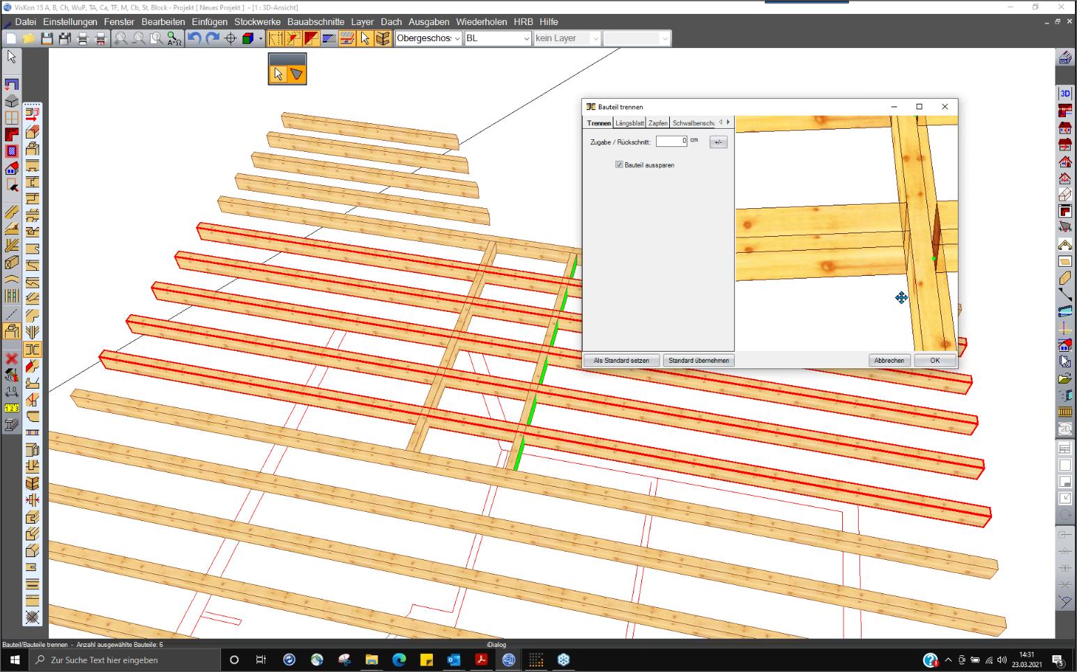 VISKON V15 3D-CAD/CAM Sektor A - Abbund-/Holzbau CAD | Jahresmiete mit Softwarepflege & Wartung