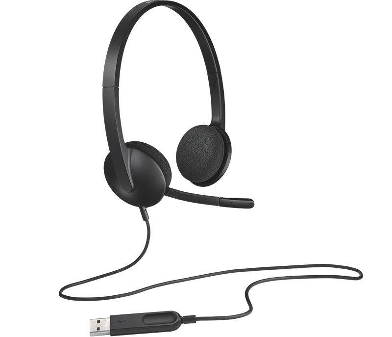 LOGITECH   USB-HEADSET H340 USB Black