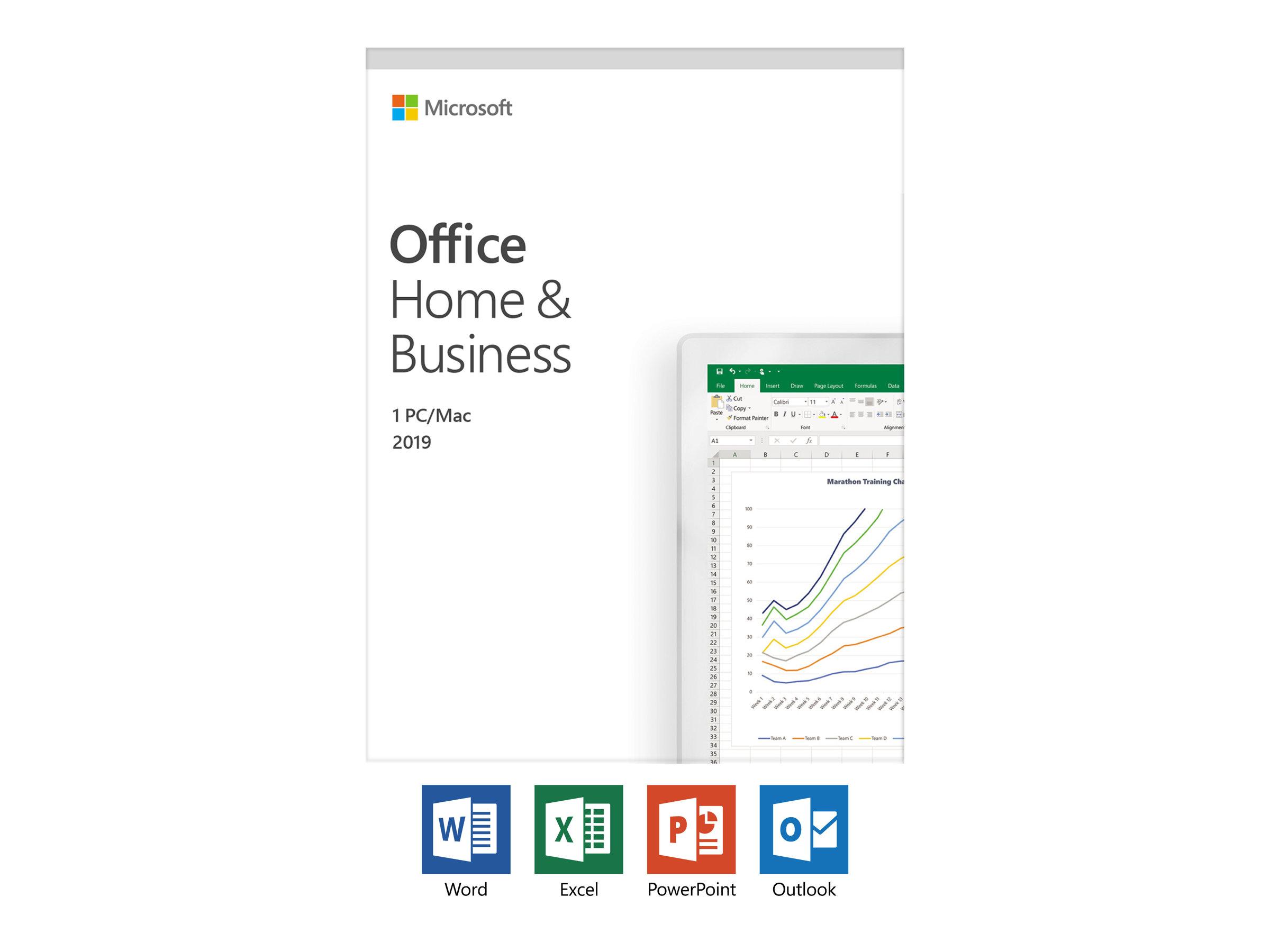 """Microsoft-Lizenz für PC und Notebook """"Home & Business 2019"""""""
