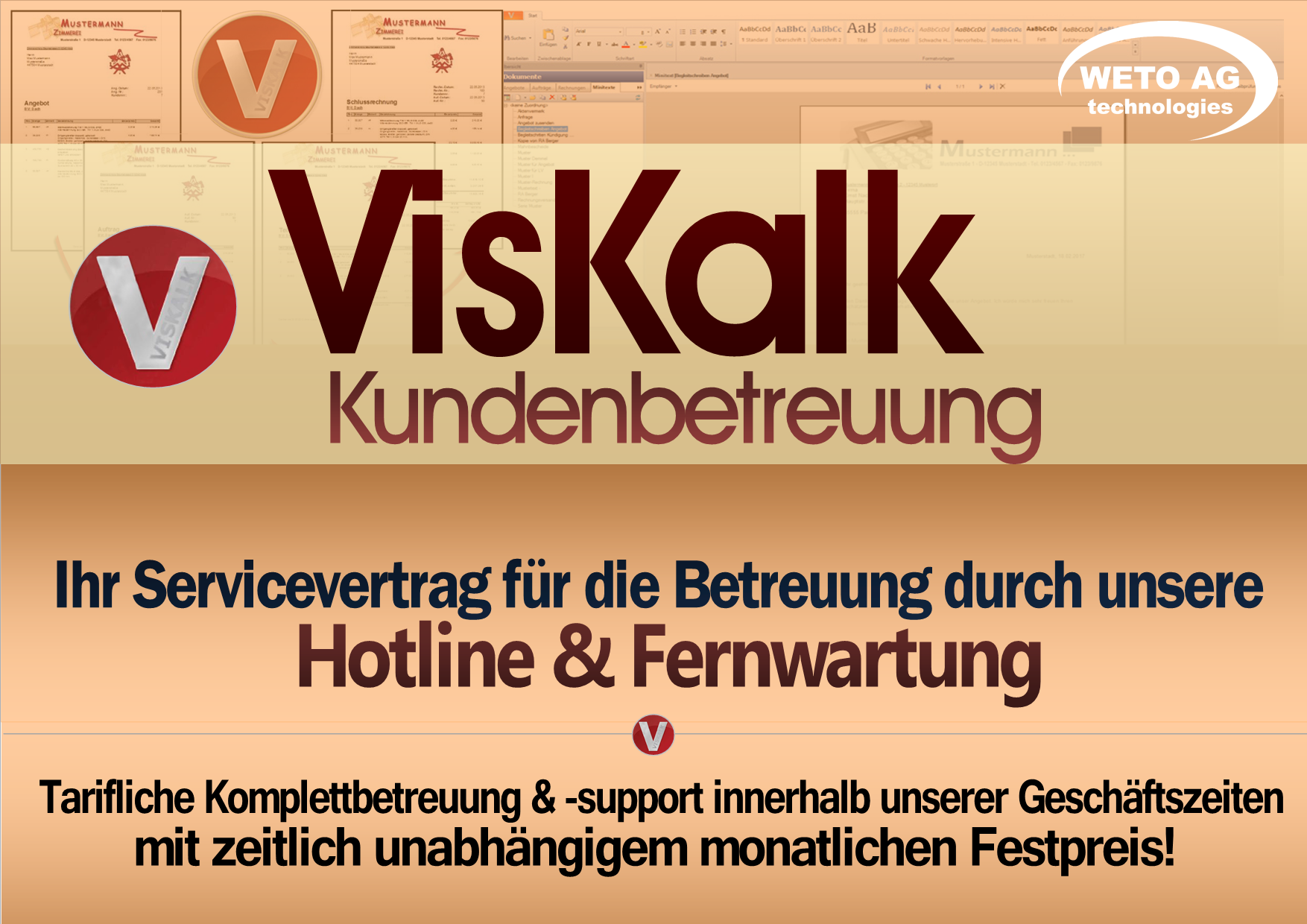 Servicevertrag Kundenbetreuung VISKALK (Preis: Jahresgebühr)