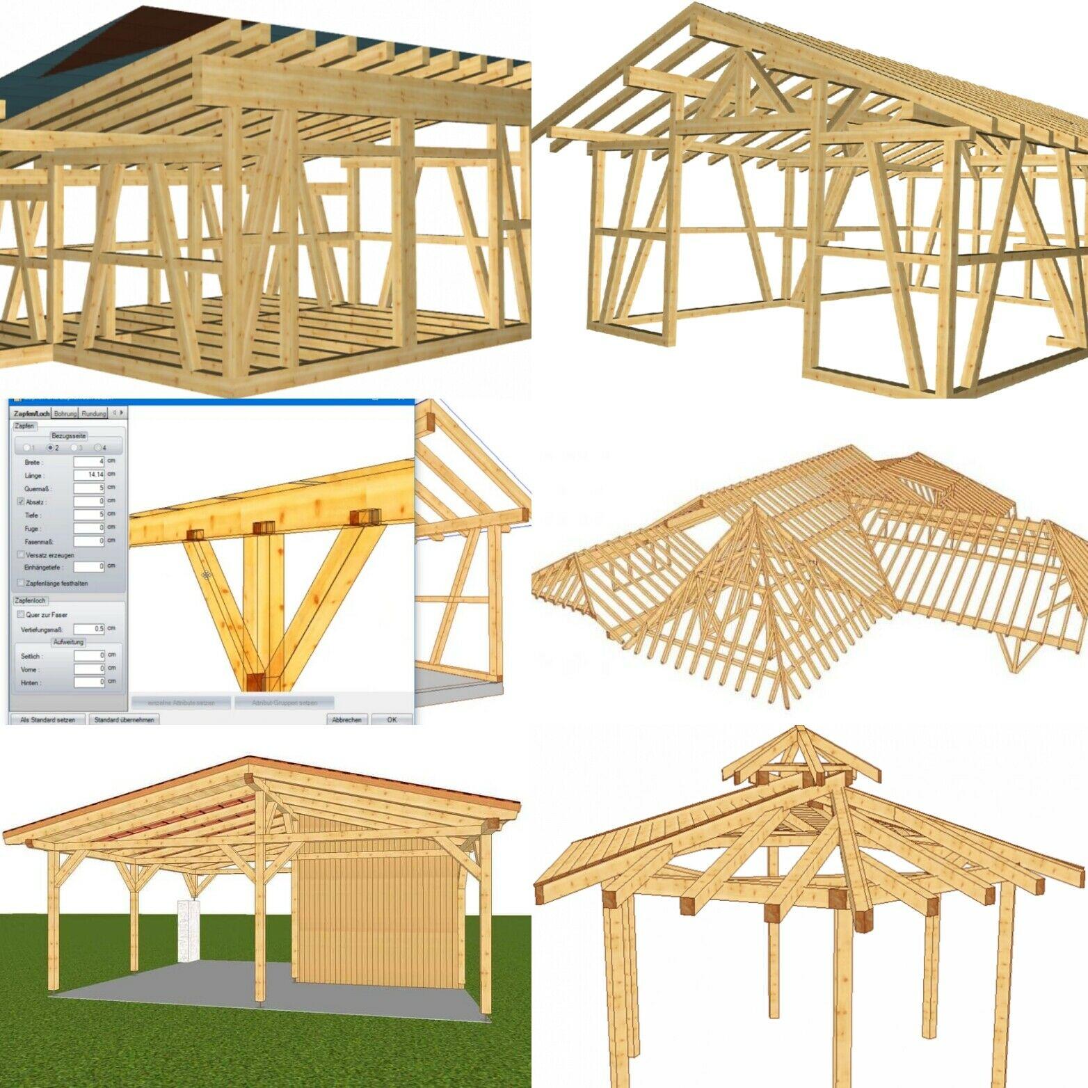 LIGNIKON XL V14 | zur Jahresmiete - 3D-CAD Holzbausoftware für erweiterte Targkonstruktionen & Abbund