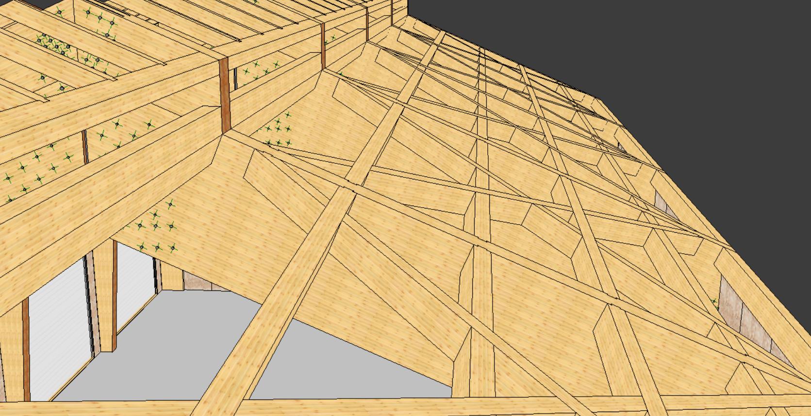 VISKON V15 3D-CAD/CAM Sektor A - Abbund-/Holzbau CAD   Jahresmiete mit Softwarepflege & Wartung