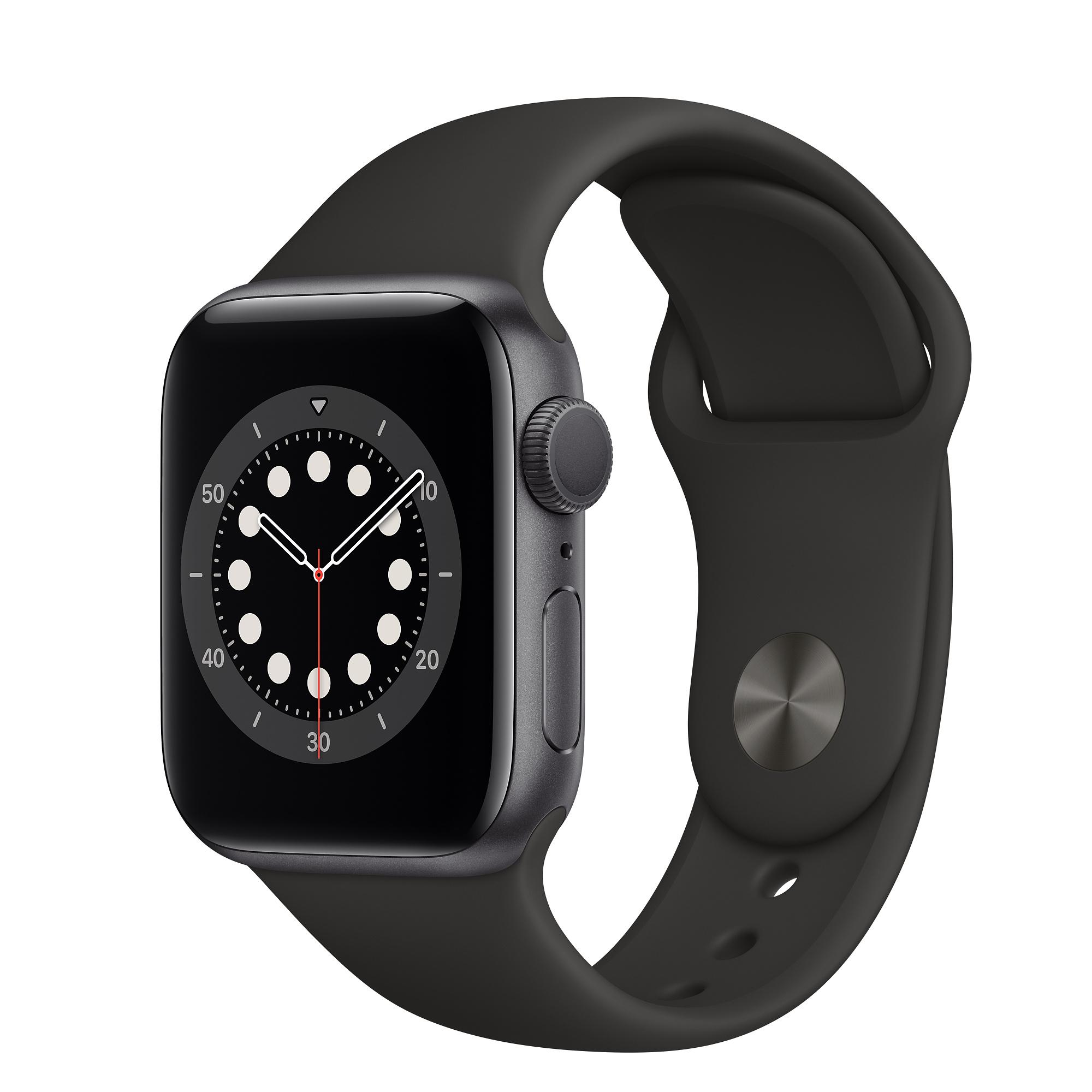 APPLE Watch S6 Alu 40mm Spacegrey (Bracelet Black) iOS
